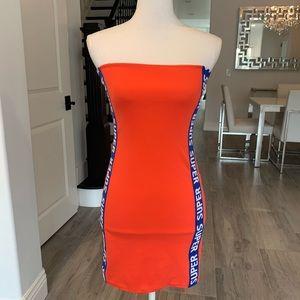 Fashion Nova Neon Motorsport Tube Dress